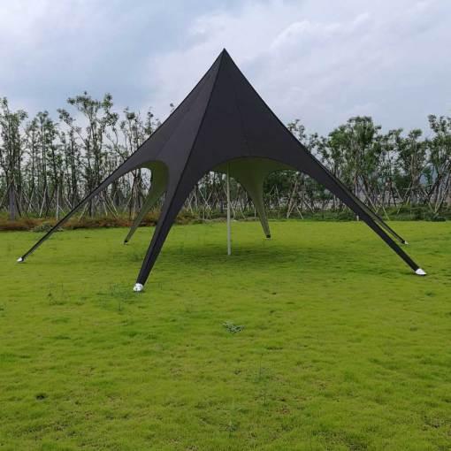 Stock Black Star Tent