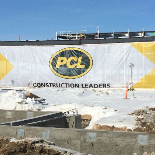Construction Site Large Mesh Banner