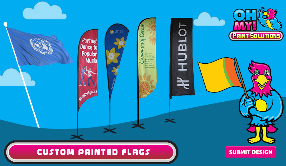 Custom printed flags