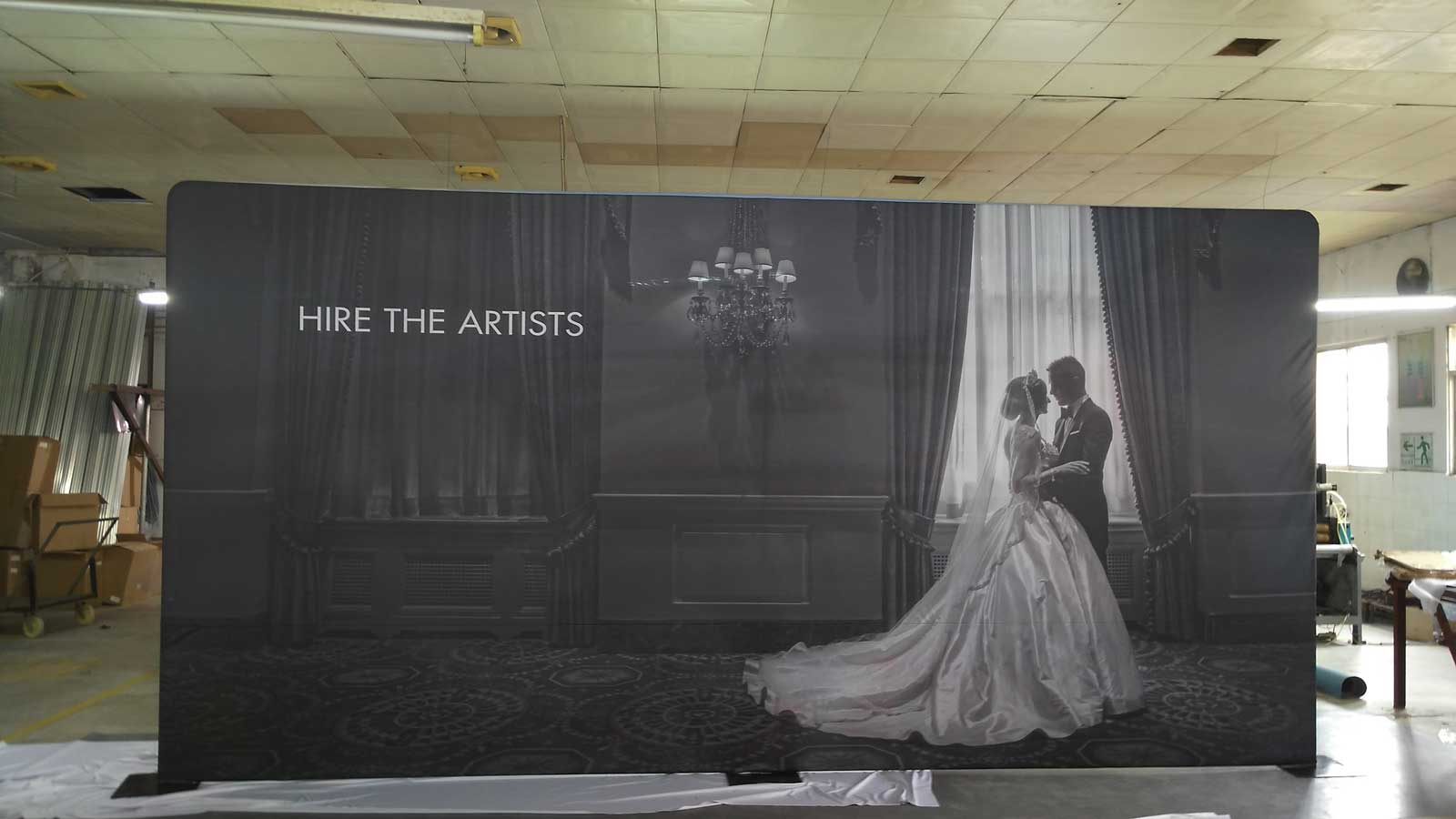 Wedding Logo Backdrop Walls 10 High X 20 Wide Tradeshow Display