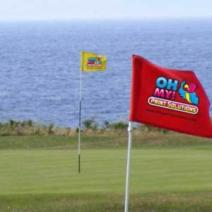 Custom golf pole flags