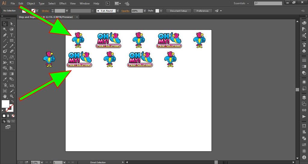 Logo Wall Instructions Illustrator Step 5-b