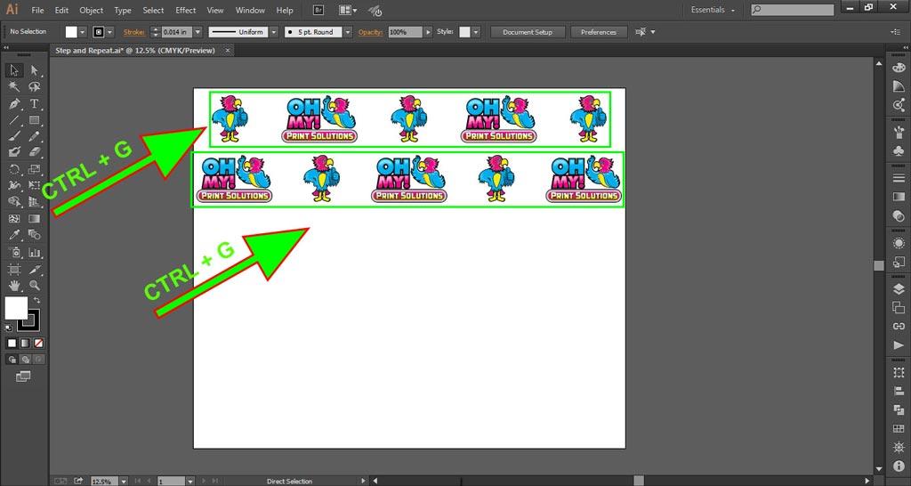 Logo Wall Instructions Illustrator Step 6