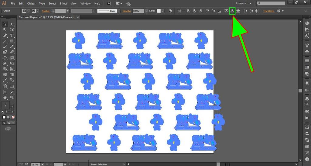 Logo Wall Instructions Illustrator Step 8-b