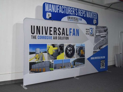 15 foot Tradeshow Display with Header