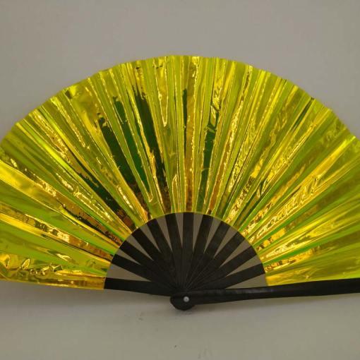 13-inch-black-bamboo-gold-pvc-hand-fan
