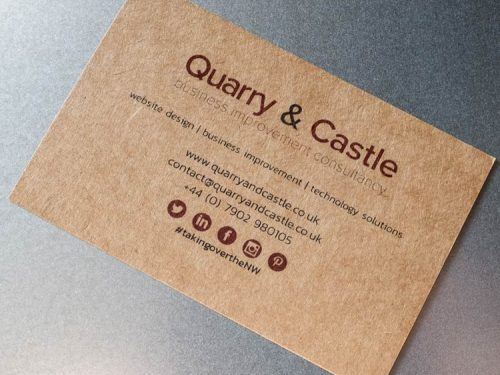 Brown Kraft Paper Cards