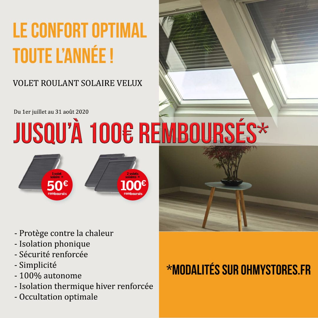 offre volet roulant solaire velux oh