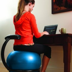 Amazon Gym Ball Chair Hanging Clear Excercise Desk Oh My That 39s Awesome