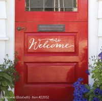 New Front Door Welcome Sign Expressions Available ...