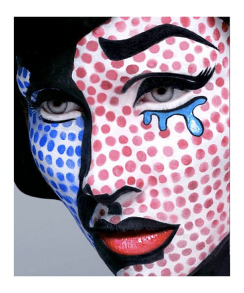 Cool Lichtenstein Pop Art make up