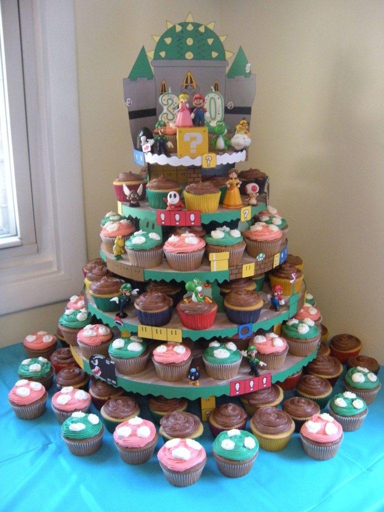 Mario Cupcake Tower