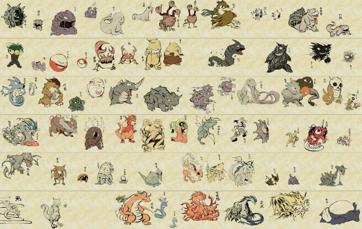 Traditional Japanese Pokemon