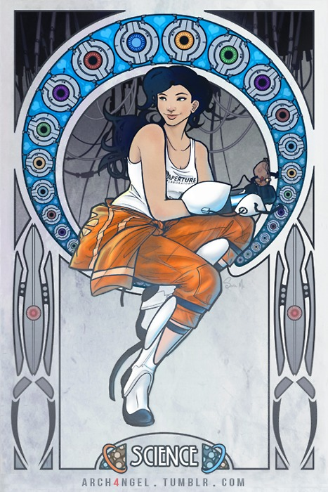 Portal Art Nouveau Print