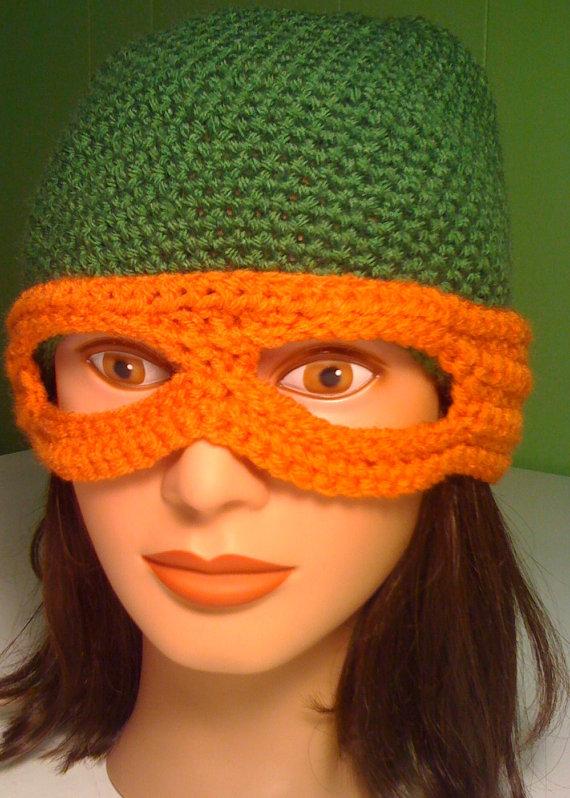 Crochet Ninja Turtle Beanie