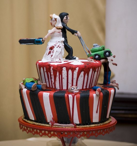 Zombie Wedding Cake Toppers and Cakes  wwwohmznet