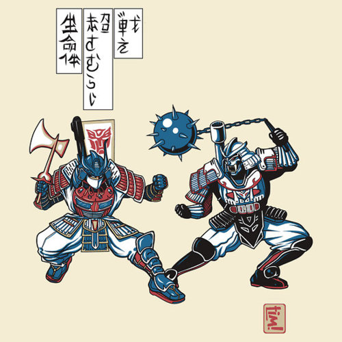 "Tatakae Chou Samurai Seimeitai! by ninjaink<br /><br /><br /> USD$28.28</p><br /><br /> <p>""Tatakae Chou Samurai Seimeitai"" is a ukiyo-e wood block print from around the Sengoku era. This particular design tells a warrior's tale of an epic battle between good and evil, one that carries over into the modern day. Though this appears to be a typical feud between opposing samurai, there is more to this print than meets the eye.</p><br /><br /> <p>Follow the artist on Tumblr"
