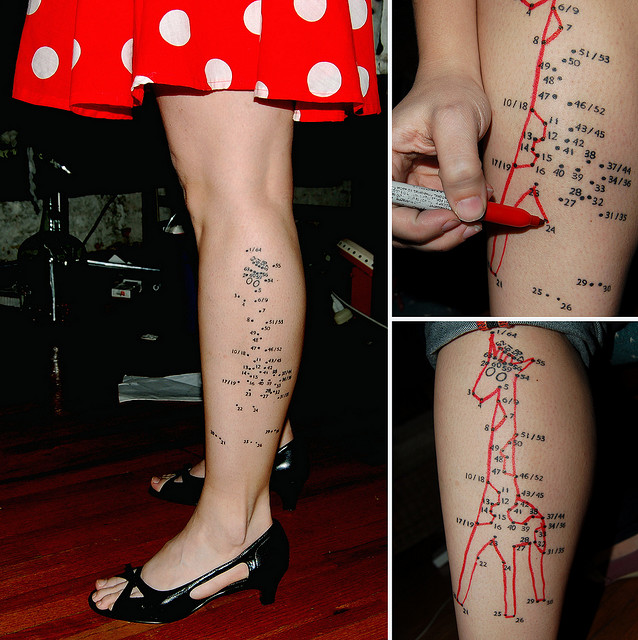 My Connect-the-Dots Tattoo was chosen for a Book O' Tattoo Weirdos