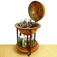World Globe Liquor Dispenser + Bonus Globe Bars  www.ohmz.net