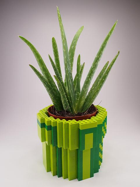 Lego 8-Bit Warp Pipe Planter
