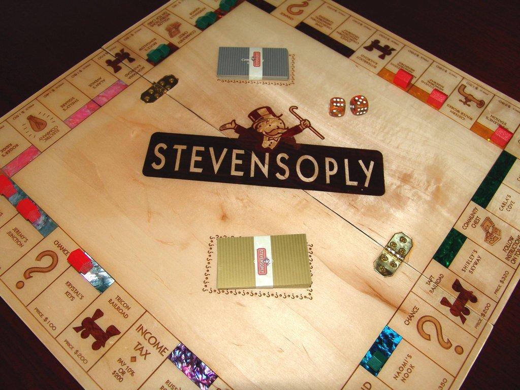 lasercut wooden monopoly board  stevensoply   u2013  ohmz net
