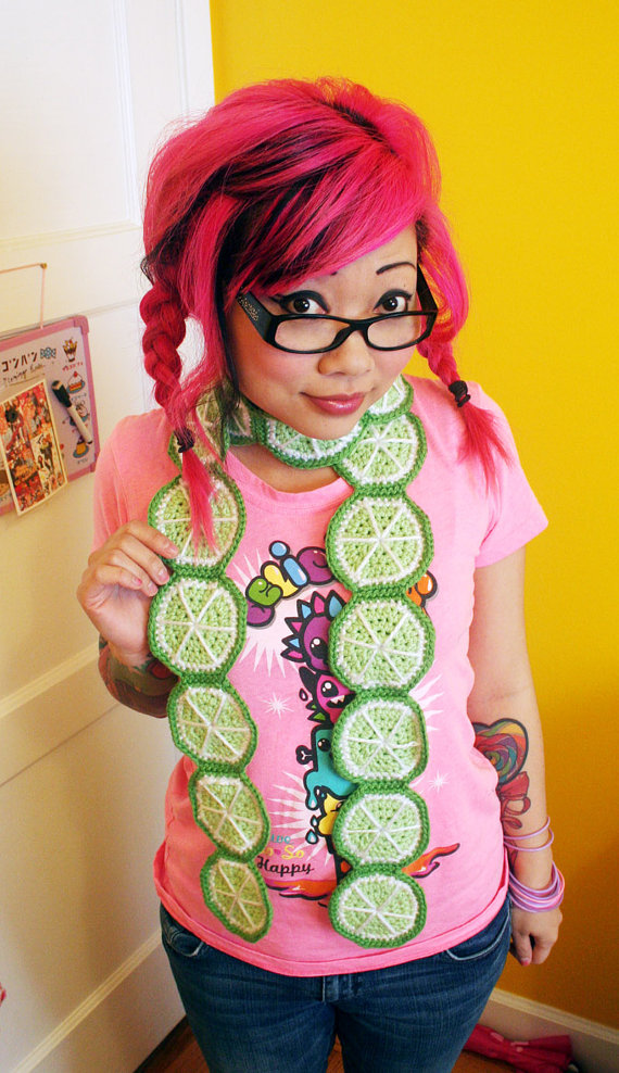 Slice o' Lime Scarf - Made to Order