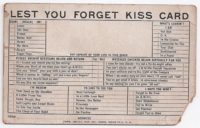 Exhibit Supply Co. kiss card