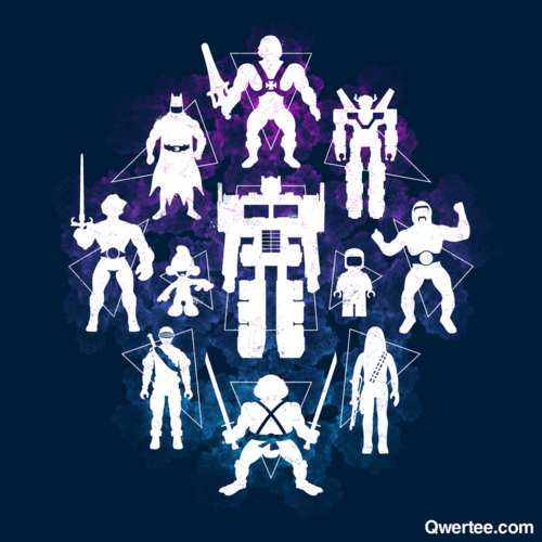 A solid group of old school plastic heroes have been revived by artist Chris McVeigh! Shirts are on sale at Qwertee for just $14. Only 19 hours left! Plastic Heroes by Chris McVeigh (Tumblr) (Redbubble) (Twitter) Via: powerpig
