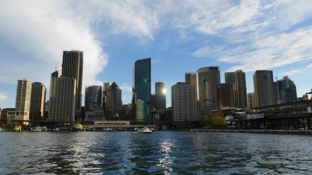 Sydney eine Lebensalternative: Circular Qai vom Wasser aus gesehen