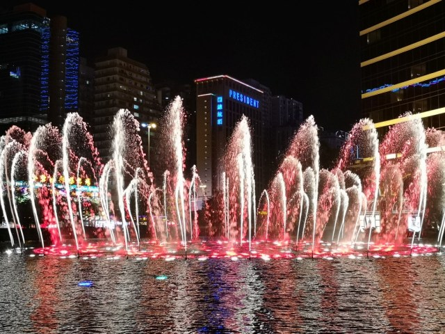Wassershow des Wynn-Hotels