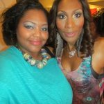 After a few moments of laughter Nikka Shae and Towanda Braxton finally get the shot