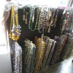 Gorgeous necklaces on display