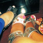 Me and the girls showing off our fabulous shoes