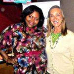 Nikka Shae with Atlanta Dream owner Kathy Betty