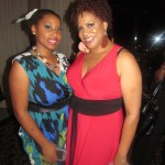 Tarin Boone founder and She-EO of Fro Fashion Week with Kim Coles