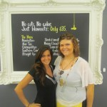 Drybar Assistant Manager Katerina Wean and stylist/magician Hiliary Munley