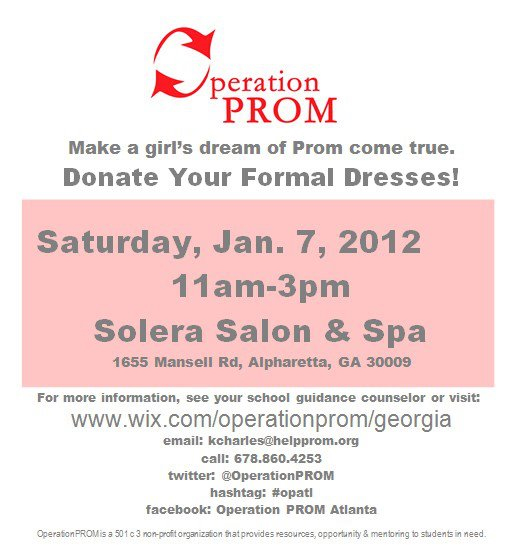 Operation Prom 2012 Launch Party and Dress Drive