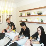 """Floating on cloud 9"", patrons enjoy head massages and invigorating shampoos"