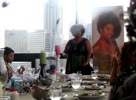 Keynote speaker Afrobella giving a wonderful speech about her journey as a blogger