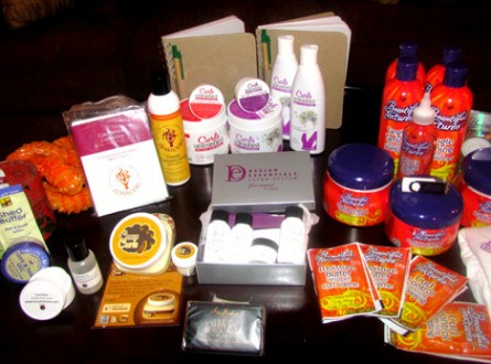 "Check out my ""haul"" of products (literally) that I scored from the event"