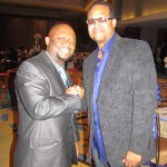 "Gary ""Lil G"" Jenkins of Silk with my hubby Jason looking all handsome"