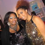 Nikka Shae with Lexi (LexiWithTheCurls) of Curls Coils & Kinks. Aren't we all sparkly!