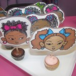Tasty mini cupcakes from Chanelle's Heavenly Treasures with cute toppers by Ayanna Davis