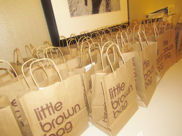 The first 50 guests snagged a little brown bag full of goodies!