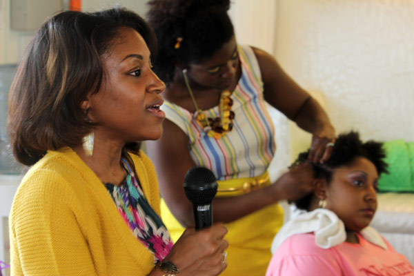 DiAsha Hollingsworth of DollfendBlu Hair Studio discusses ways to care for your natural hair