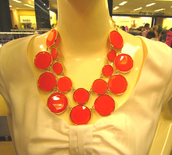 Beautiful neckwear and accessories on display during the private shopping experience