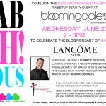 Tweet me at Bloomingdale's for a Fab-Oh!-Lous event to celebrate the Blogiversary of Oh! Nikka!