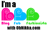 I'm a Blog Fab Fashionista (BFF) with Oh! Nikka