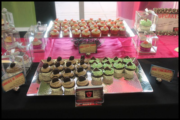 Delish cupcakes by Lucky 13 Bakery