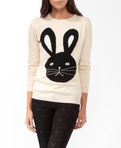 Forever 21 - Bunny Graphic Sweater